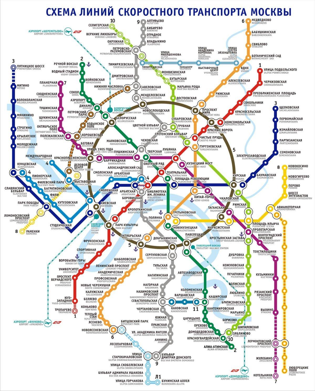 Будущие станции метро на схеме